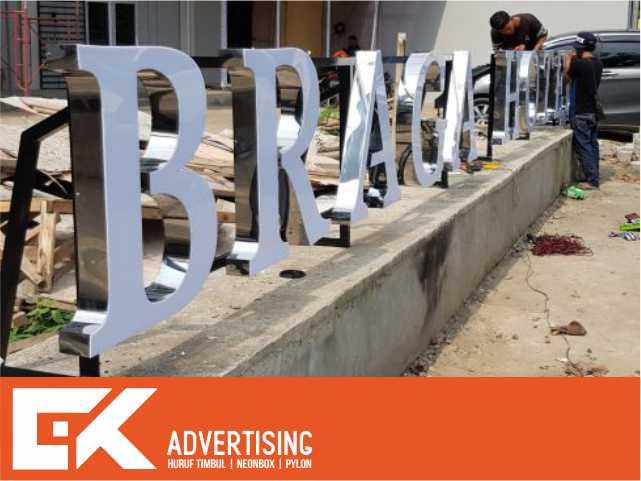 jasa pembuatan huruf timbul acrylic stainless purwokerto jakarta